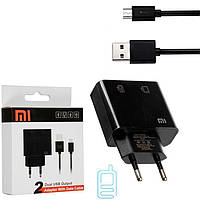 Сетевое зарядное устройство Xiaomi DK-M2 2USB 2.0A micro-USB black