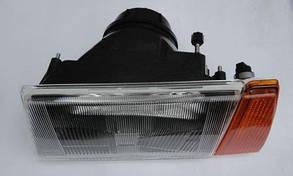 Фара ВАЗ 2108 ліва (чорний корпус) (покажчик повороту жовтий) Формула Світла