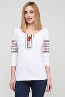 Современная вышиванка женская белая от производителя   Футболка вышиванка женская