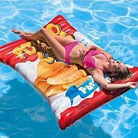 Надувной плот Водный матрас для плавания Картофельные чипсы Интекс Качественно выполнен Intex 58776 Размер