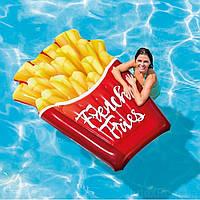 Надувной плот Водный матрас для плавания пляжа Картошка фри Интекс Качественно выполнен Intex 58779 Размер