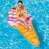 Надувной плот Водный матрас для плавания пляжаРожок мороженого Интекс Качественно выполнен Intex 58787