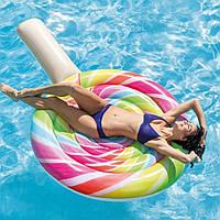 Надувной плот Водный матрас для плавания пляжа Леденец Конфета Интекс Качественно выполнен Intex 58753