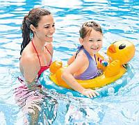 Детский надувной круг-плотик круг плот для плавания Уточка для детей Интекс Качественный Intex 59570 Размер
