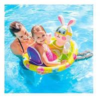 Детский надувной круг-плотик крут плот для плавания Зайчик для детей Интекс Качественный Intex 59570 Размер