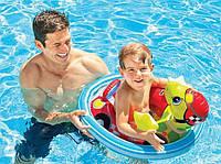 Детский надувной круг-плотик круг плот для плавания Черепаха для детей Интекс Качественный Intex 59570 Размер