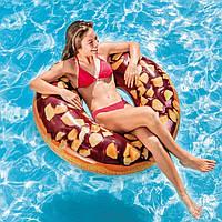 Надувной круг водный Шоколадный пончик для детей и взрослых Интекс Качественный Intex 56262 Размер 114х114 см