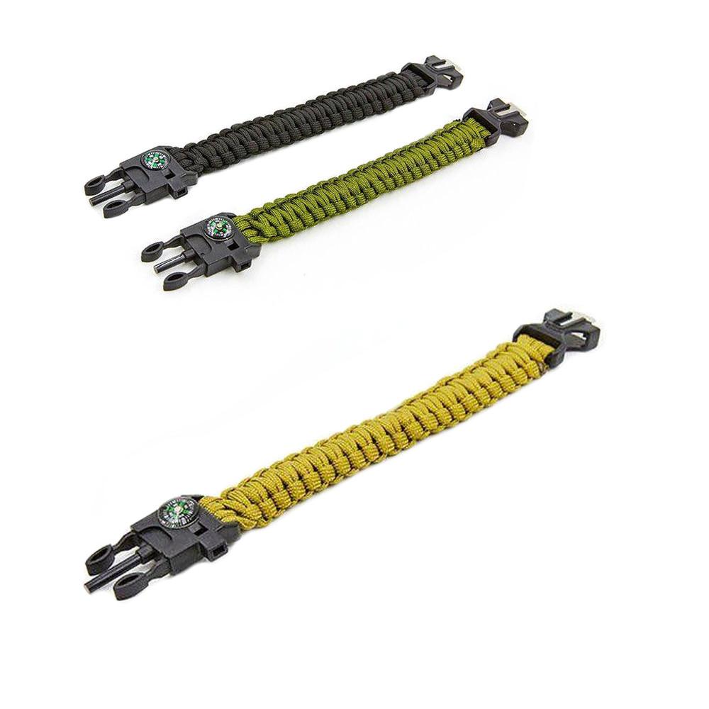 Туристический браслет из паракорда с компасом Paracord Fire Starter Bracelet TY-6836 (Олива) (GK)