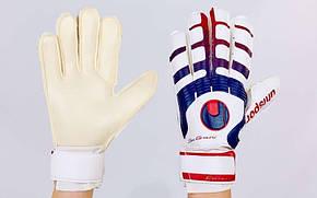 Перчатки вратарские с защитными вставками на пальцах UHLSPORT FB-842-3, фото 2