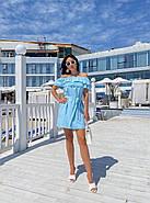 Жіноче коротке плаття з відкритими плечима, фото 2