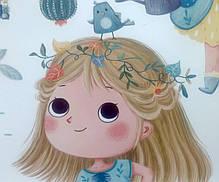 """Интерьерные наклейки на стену, двери, шкафы в детсад """"Девочка поливает цветы"""" 48см*110см (листа 60*90см), фото 2"""