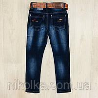 Джинсовые брюки для мальчиков оптом, H.L. Xiang, 134-164 рр., арт.  A-608, фото 2