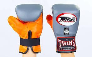Снарядные перчатки кожаные TWINS TBGL-6F-GR-XL