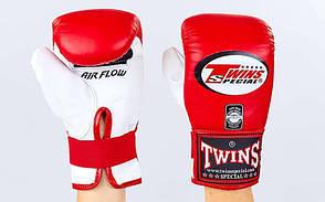 Снарядные перчатки кожаные TWINS TBGL-6F-RD-L