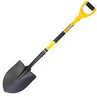 Лопата штикова з фиберглассовой ручкою 230*300*485мм L-1100мм порошкове фарбування MASTERTOOL 14-6277