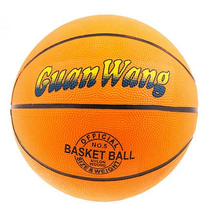 Мяч баскетбольный №5 резиновый R5, фото 2