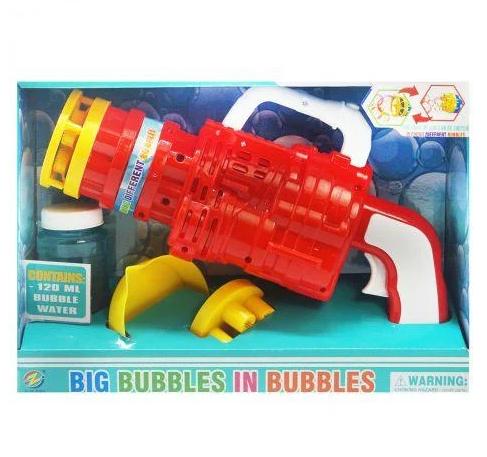 Автомат з мильними бульбашками 75-3 (48/2) 2 насадки, на батарейках, 2 кольори, в коробці
