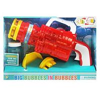 Автомат з мильними бульбашками 75-3 (48/2) 2 насадки, на батарейках, 2 кольори, в коробці, фото 1