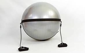 Ремінь на фітбол d-65см з еспандером FI-0702-65