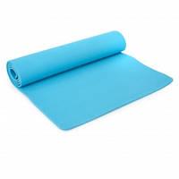 Коврик для фитнеса и йоги TPE+TC 6мм SP-Planeta FI-4937 (1,83мx0,61мx6мм, цвета в ассортименте)