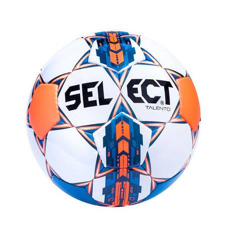 М'яч футбольний №5 SELECT BRILLANT REPLICA (білий-синій-оранжевий), фото 2