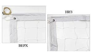 Сетка для волейбола узловая c тросом Эконом10 (р-р 9,5x1м, ячейка 10x10см) SO-5273