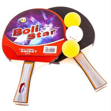 Ракетка для настолького тениса Boli Star 9001, фото 2