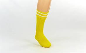 Гетры футбольные юниор желтые с белой полосой CO-5602-Y