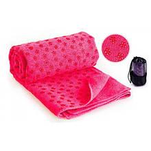 Килимок – рушник для йоги OSPORT Yoga mat towel Рожевий (FI-4938_PK)