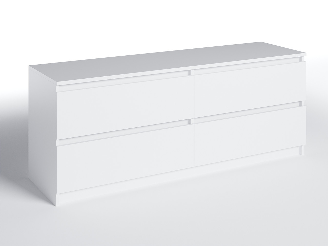 Тумба под ТВ с 4 ящиками Белый