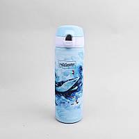 """Термокружка """"Whale"""" з нержавіючої сталі 400мл Maestro, колір блакитний (MR-1634-A)"""