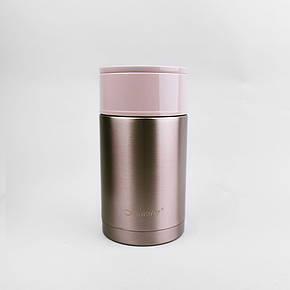 Харчовий термос з нержавіючої сталі 0,6 л Maestro, колір коричневий (MR-1636-60), фото 2