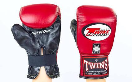 Снарядні рукавички шкіряні TWINS TBGL-6F-BR-M, фото 2