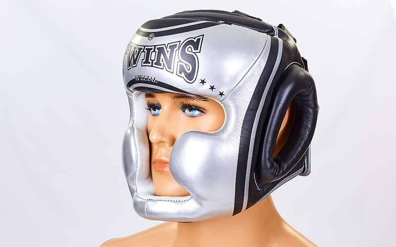 Шолом боксерський з повним захистом шкіряний TWINS FHG-TW4SI-XL