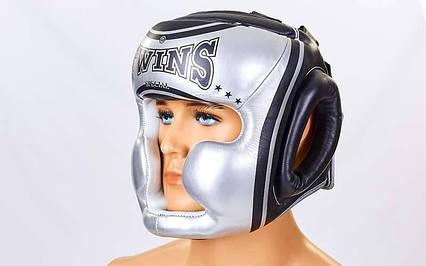 Шолом боксерський з повним захистом шкіряний TWINS FHG-TW4SI-XL, фото 2