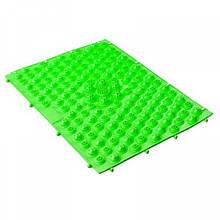 Килимок-пазл ортопедичний масажний (масажер для ніг і стоп) OBABY 24*30cm (MS 1952) Зелений