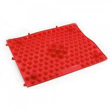 Килимок-пазл ортопедичний масажний (масажер для ніг і стоп) OBABY 24*30cm (MS 1952) Червоний