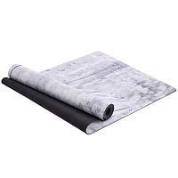 Коврик для йоги Замшевый каучуковый двухслойный 3мм Record FI-5662-20