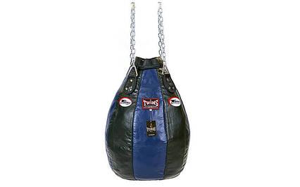 Чехол боксерского мешка кожаный (без наполнителя) TWINS PPL-BU-S, фото 2