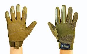 Рукавиці тактичні з закритими пальцями BLACKHAWK BC-4924-G (р-р M-XL, оливковий)