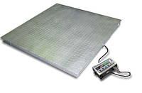 Ваги платформні низькопрофільні чотиридатчикові пилі вологозахисні ТВ4-3000-1-(1500х1500)-12h