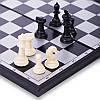 Шахи, шашки, нарди 3 в 1 дорожні пластикові магнітні 9618 (р-р дошки 27см x 27см), фото 5