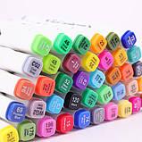 Набор скетч маркеров 24 шт для рисования двусторонние профессиональные спиртовые белые, фото 4