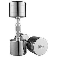 Гантель хромированная 1 шт-10 кг (80034B-10)