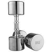 Гантель хромированная 1 шт-8 кг (80034B-8)