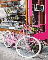 Картина малювання за номерами Велосипед на вулиці Парижа GX35694 40х50см набір для розпису по цифрам без коробки