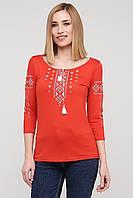 Современная вышиванка женская от производителя   Стильная футболка вышиванка женская