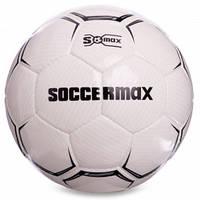 М'яч футбольний професійний №5 SOCCERMAX FIFA FB-0001 (PU, білий-чорний)
