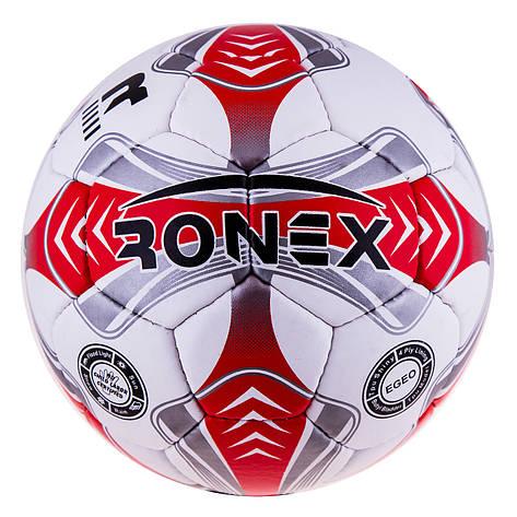 Мяч футбол Grippy Ronex EGEO red/silver RXG-14EGEO-RD, фото 2