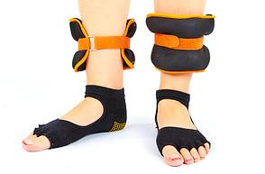 Обтяжувачі-манжети для рук і ніг FI-7208-2 (2 x 1кг) помаранчевий (неопрен, метал.кульки, кольори в асортименті)